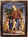 Cosmè tura e angelo maccagnino, musa tersicore, 1460 ca., da studiolo di belfiore, 01.JPG
