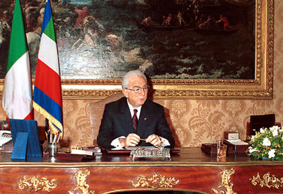 Cossiga during his Presidency - Francesco Cossiga