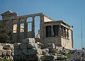 Costat oest de l'Erectèon, Acròpoli d'Atenes.JPG