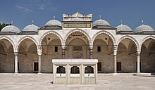 Courtyard of the Süleymaniye Mosque in Istanbul, Turkey 001.jpg