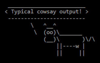 Cowsay - Image: Cowsay Typical Output
