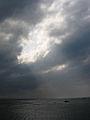 Crepuscular rays 20050516 Dan Shuei Taiwan.JPG