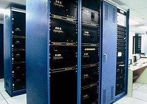 S-100 bus - Racks of Cromemco S-100 Systems at the Chicago Mercantile Exchange in 1984