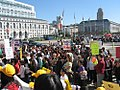 """Crowd as House Democratic Leader Nancy Pelosi spoke at the """"Speak Up for Kids Day"""" rally on March 31, 2005.jpg"""