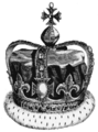 Crown of Charles II as set for James II in 1685.png