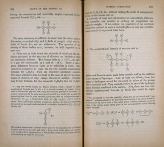 Alexander Crum Brown - Extract from Alexander Crum Brown's influential paper