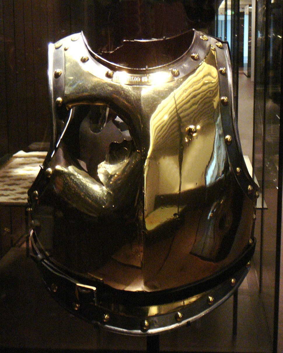 Cuirass holed by a canonball at Waterloo Antoine Fauveau 18Juin 1815