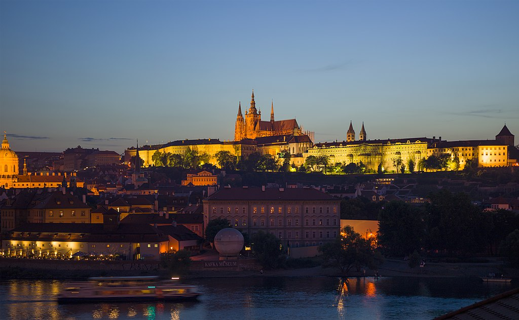 Czech-2013-Prague-Prague Castle at dusk
