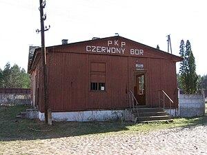 Czerwony Bór, Podlaskie Voivodeship - Image: Czerwony bor pkp 1