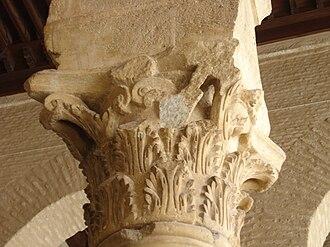 Acanthus mollis - Corinthian column capital in the Mosque of Uqba in Kairouan, Tunisia