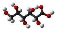 Ball-and-stick model of gluconic acid