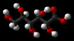 Gluconic acid - Image: D gluconic acid 3D balls