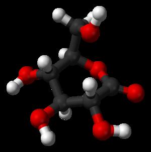 Glucono delta-lactone - Image: D glucono delta lactone 3D balls