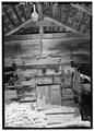 DETAIL OF WEST (FRONT) ELEVATION - Walker Family Farm, Corn Crib, Gatlinburg, Sevier County, TN HABS TENN,78-GAT,1C-3.tif
