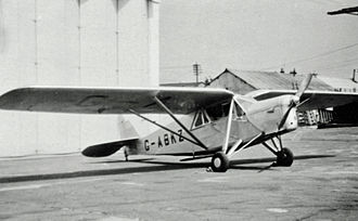 De Havilland Puss Moth - DH.80A taxi aircraft of East Anglian Flying Services at Manchester (Ringway) Airport in June 1948