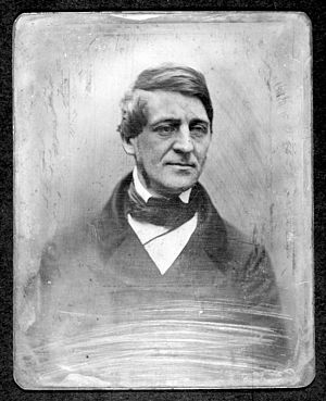 English: Daguerreotype of Ralph Waldo Emerson,...