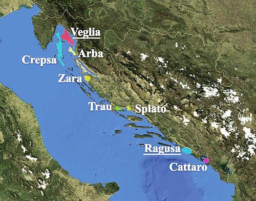 on dalmatian coast map
