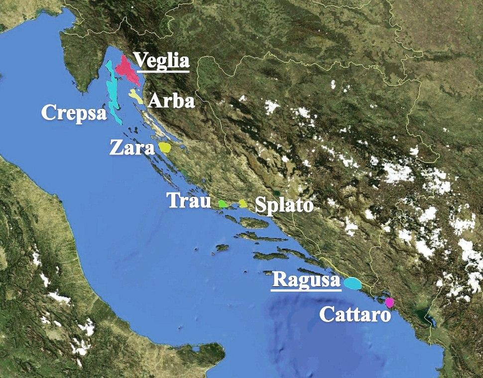 Dalmatian language map bgiu
