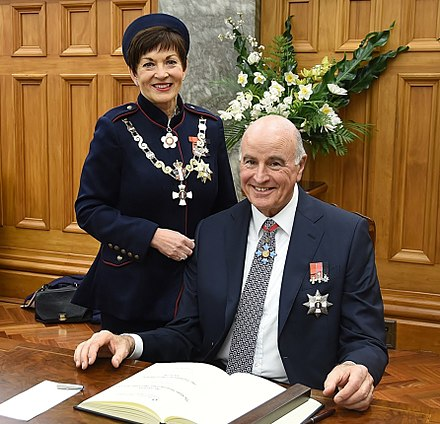 Dame Patsy Reddy and Sir David Gascoigne sign the Visitors' Book at Parliament House, Wellington, 2016 Dame Patsy Reddy and Sir David Gascoigne 2016.jpg