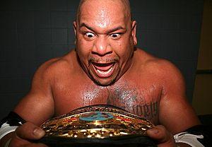 Dan Maff - Maff after beating Low Ki for the JAPW Heavyweight Championship in 2012.
