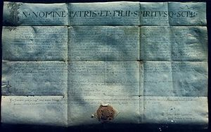 Charter of Duke Trpimir - Photo of copy of Charter of Duke Trpimir