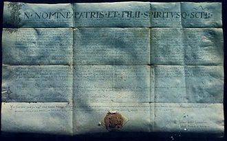 Trpimir I of Croatia - Latin charter of Duke Trpimir, dated to the year 852