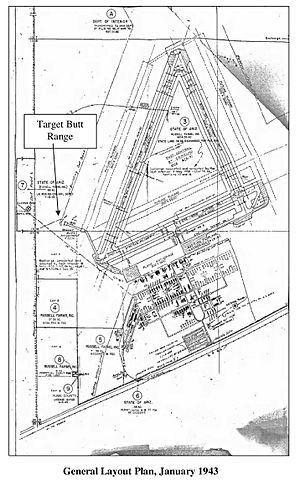 Dateland Air Force Auxiliary Field - Image: Dateland AAF general layout plan jan 1943