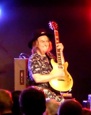 Dave Hill - Hill performing with Slade at Weymouth Pavilion in 2016.