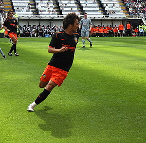 David Silva - Silva playing for Valencia