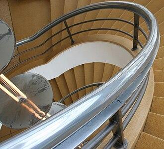 De La Warr Pavilion - A stairwell in the pavilion