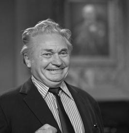 Cees Schouwenaar als Henk J. Pal in De lachende scheerkwast in 1981