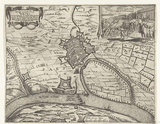 De wijt vermaerde Stadt Wesel door verrasschinge des nachts aldus verovert - Capture of Wesel in 1629