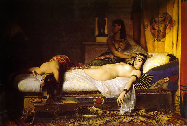 Смерть Клеопатры. Художник Жан-Андрэ Риксан (1874г.)