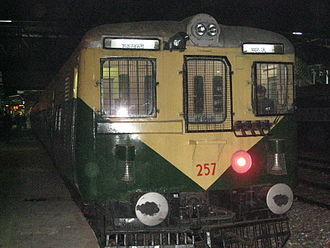 Mathura - Train A local train in Mathura.