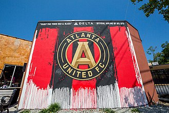 Atlanta United FC - An Atlanta United mural located in Decatur, Georgia