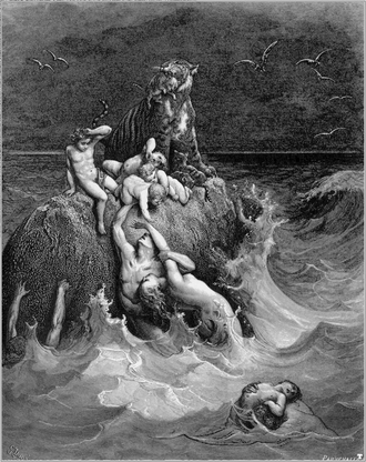 Genesis flood narrative - The Deluge (illustration by Gustave Doré from the 1865 La Sainte Bible)