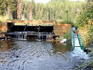 Fish ladder - Denil Fishway on Salmon Creek, Montana