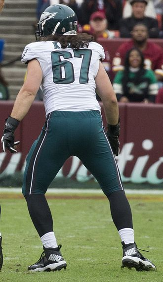 Dennis Kelly (American football) - Dennis Kelly with the Philadelphia Eagles in 2015