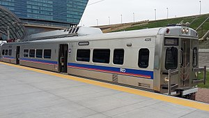 A Line (RTD) - A Line train at the Denver Airport station
