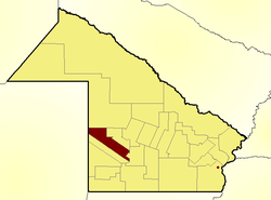 Location of Nueve de Julio Department in Chaco Province