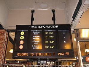 Coney Island–Stillwell Avenue (New York City Subway) - Main Departure Board, when the N ran local in Manhattan