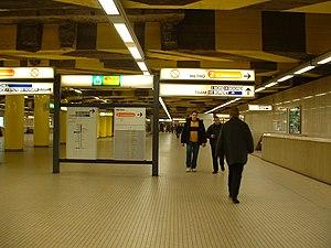 Brussels-South railway station - Image: Der Brüsseler Untergrund