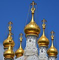 Details of the golden towers of the Rusian church of Geneva - panoramio.jpg