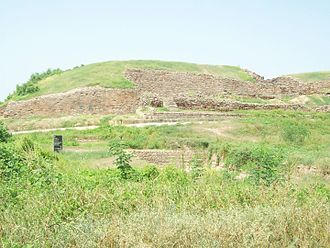 Fortification - Defensive wall of the ancient city of Dholavira, Gujarat 2600 BCE