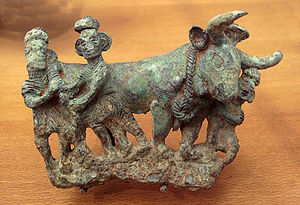 Dian Kingdom - Bronze sculpture depicting Dian people, 3rd century BCE.