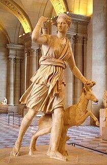 statua di Diana, museo del Louvre