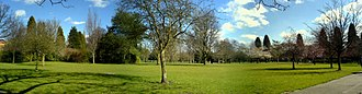 Didsbury - Panorama of Didsbury Park in March 2008