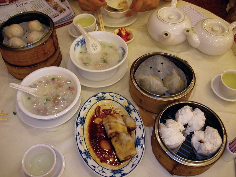 Dimsum breakfast in Hong Kong
