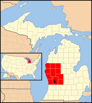 Roman Catholic Diocese of Grand Rapids - Image: Diocese of Grand Rapids map 1
