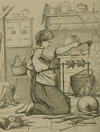 """Cook (domestic worker) - 1855 Illustration of a """"Disgruntled Cook"""""""